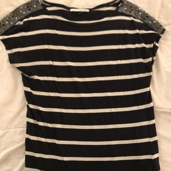 River Island Tops - Striped top with embellishments on the shoulders